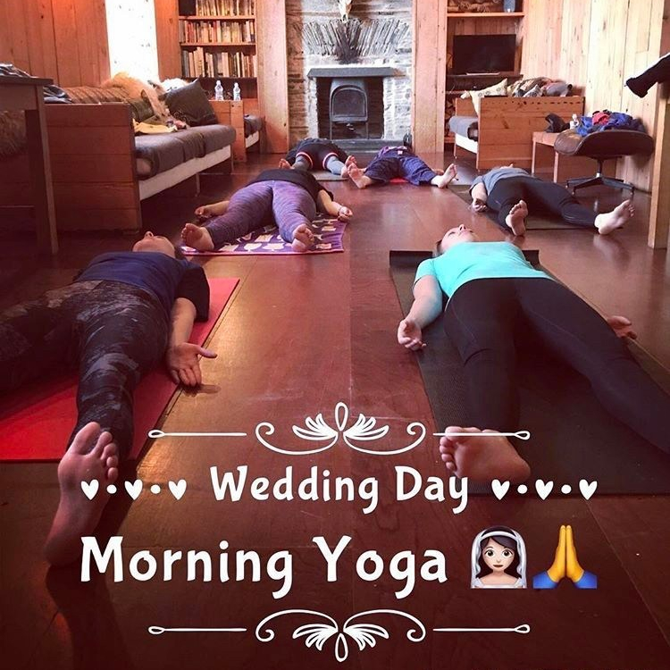 wedding morning yoga